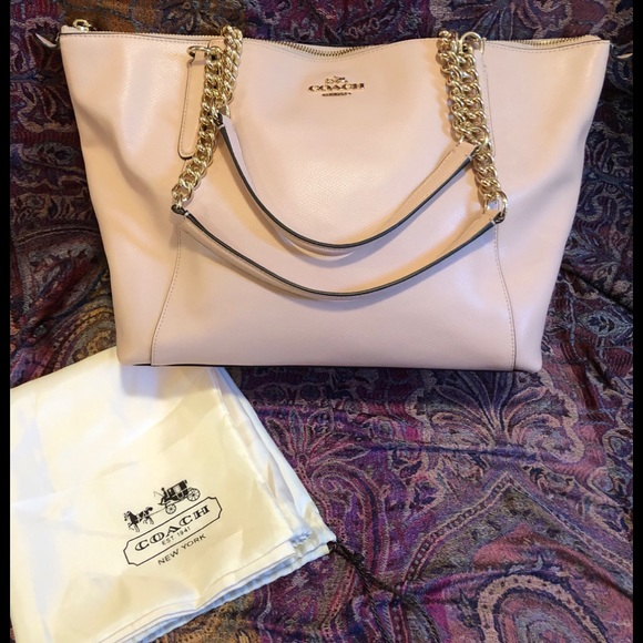 Coach Handbags - NWT! Coach Crossgrain Leather Ava Chain Tote